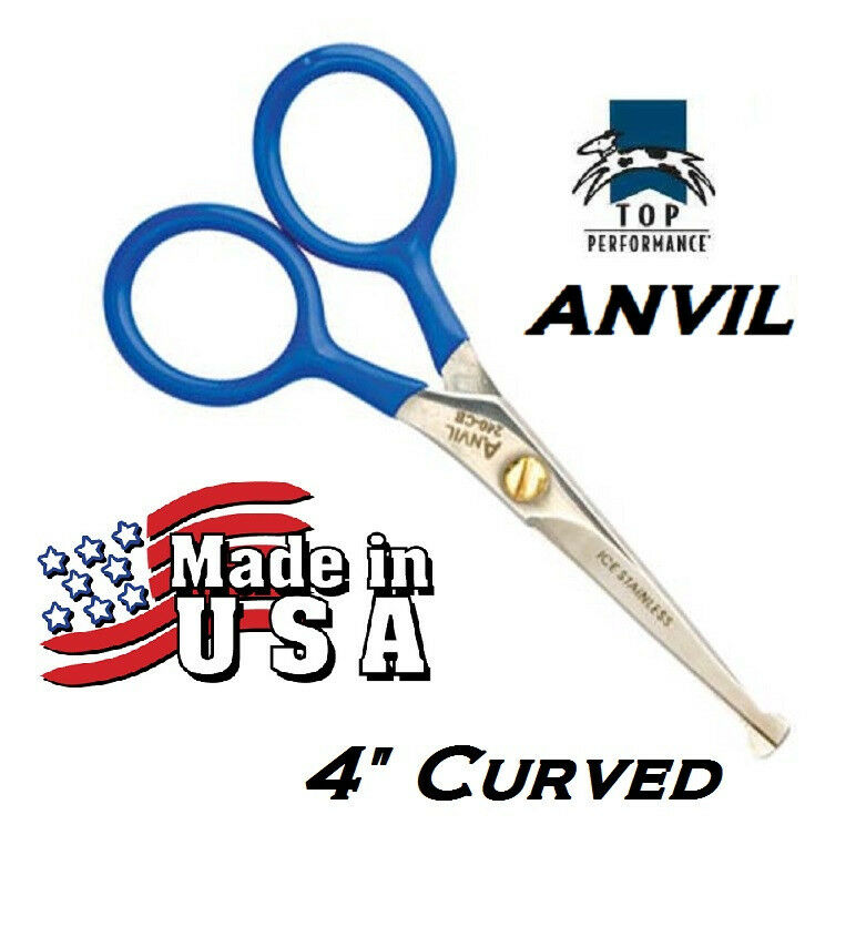 Dog Grooming Scissors Curved Made In Usa