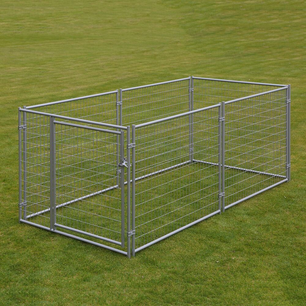 LARGE CHAIN LINK 4'x10'x5' DOG KENNEL PET PEN FENCE