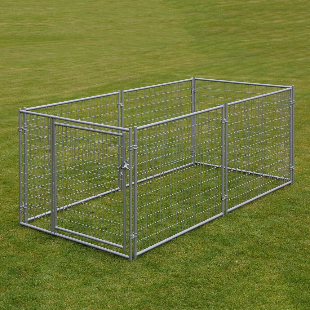 Large Chain Link 4 X10 X5 Dog Kennel Pet Pen Fence Outdoor New Free Ship Ebay