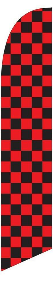Black and Red Checkered 12ft Feather Banner Swooper Flag ...