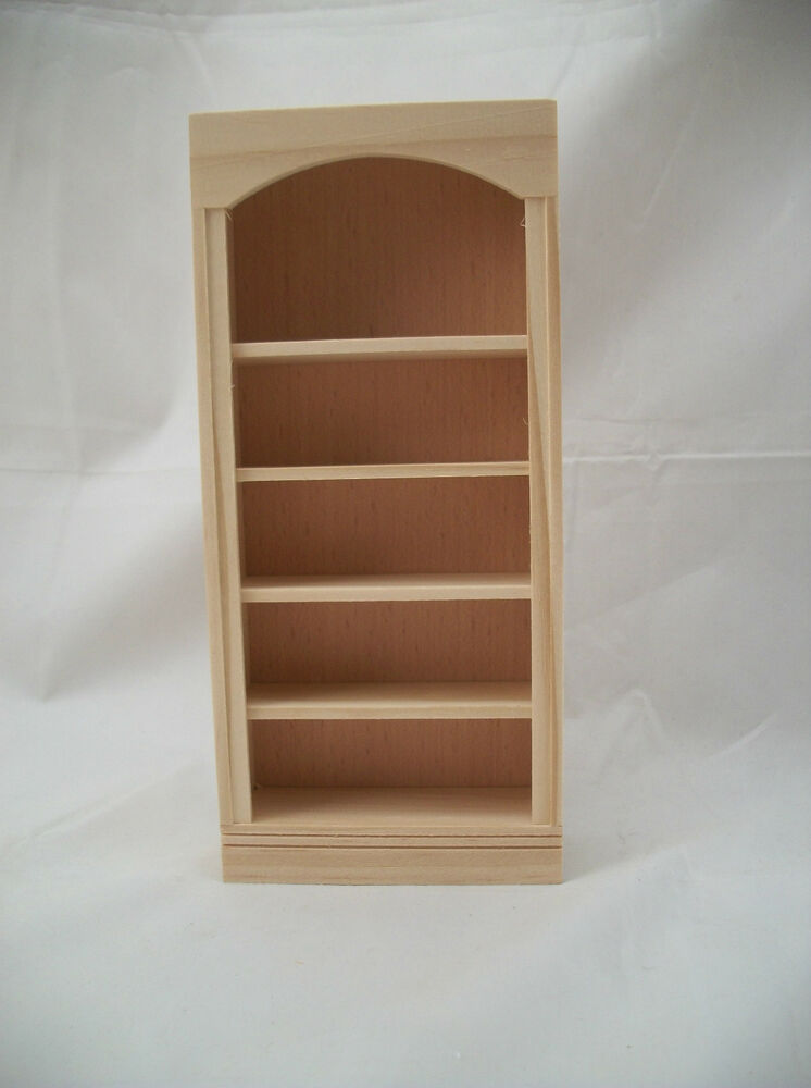 Bookcase 5016 dollhouse miniature 1/12 scale Houseworks unfinished ...