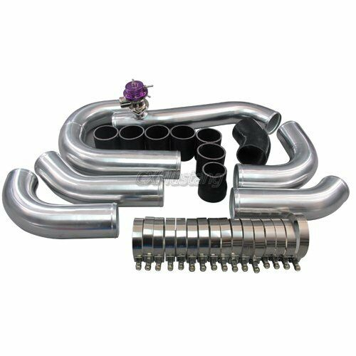 Ford Mustang Gt Supercharger Kit: Intercooler Piping Kit + BOV For 96-04 Ford Mustang 4.6L