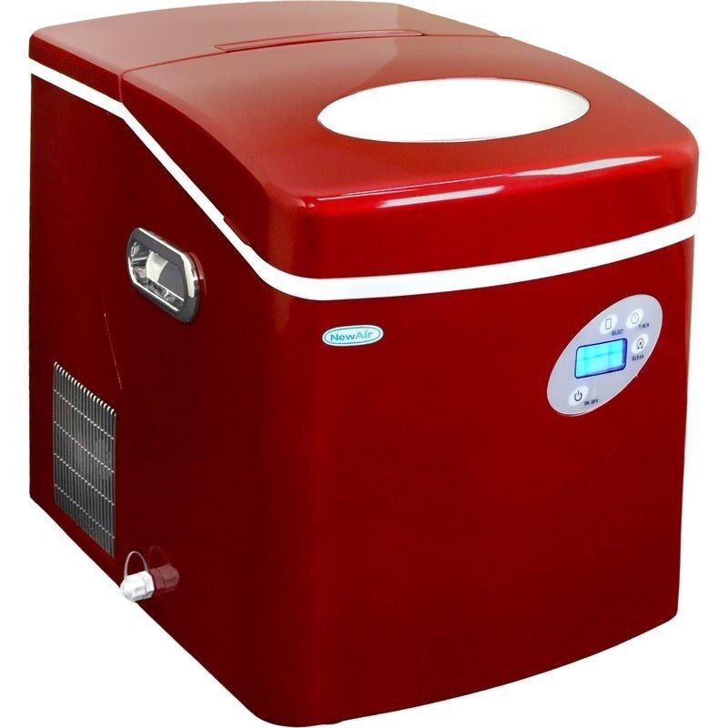 Large Countertop Ice Maker : Large Red 50 Lb Countertop Portable Ice Machine, Compact Electric Cube ...