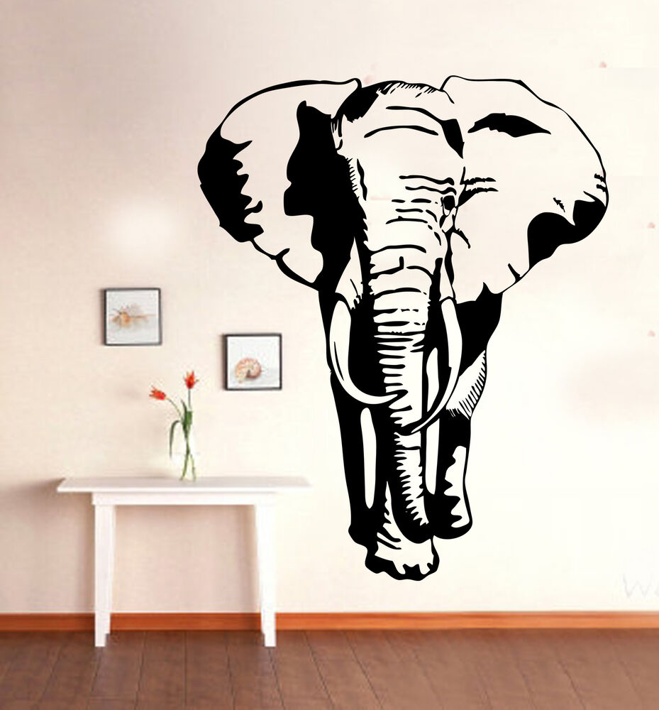African walking elephant wall art mural vinyl sticker for Elephant wall mural