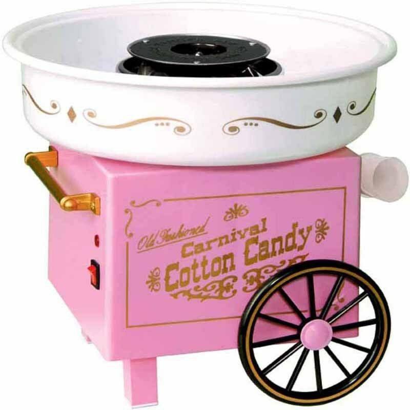 nostalgia mini cotton candy machine old fashioned electric sugar floss maker ebay. Black Bedroom Furniture Sets. Home Design Ideas