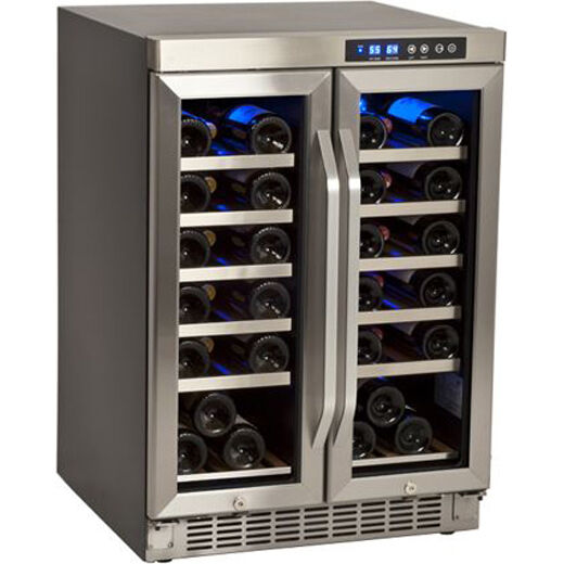 Compact 36 Bottle Stainless Steel Built In Wine Cooler