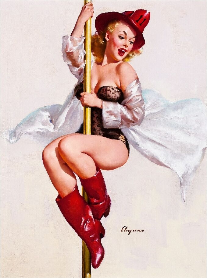 pin up on a 1940s pin up girl to the rescue fire belle pole picture