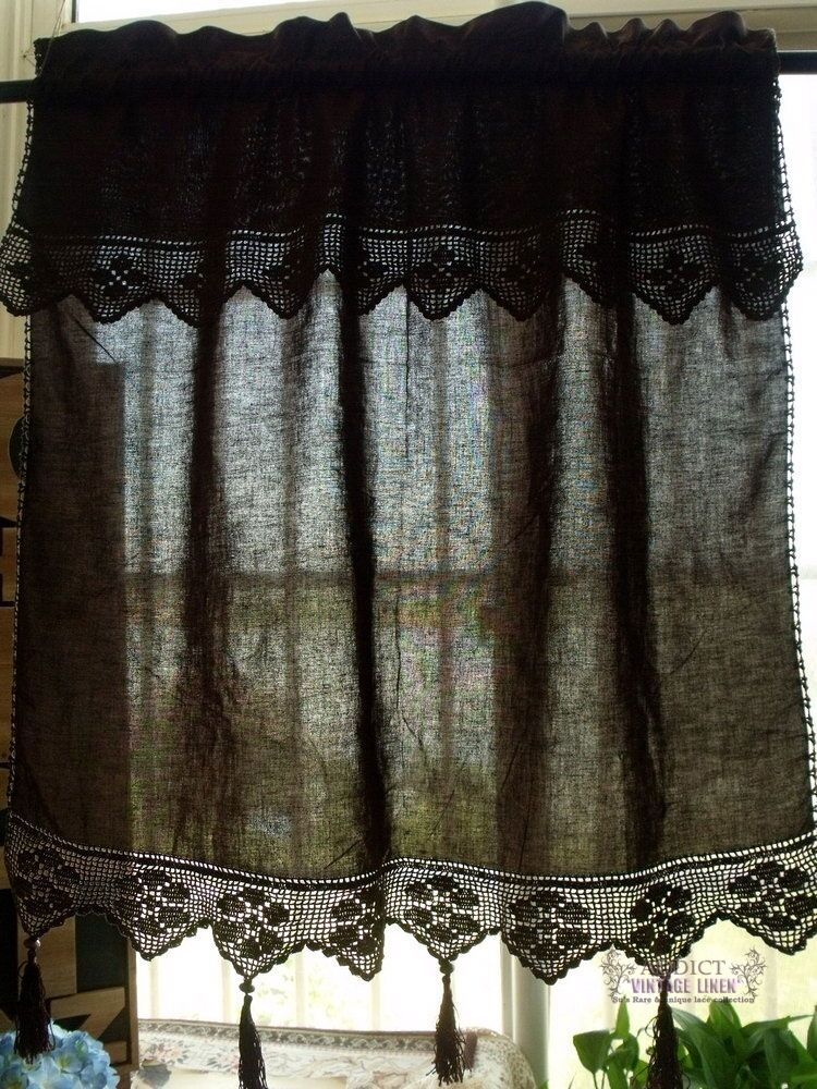 chocolate brown valance curtains