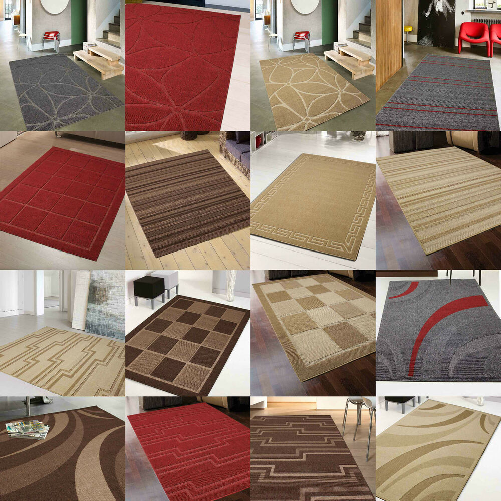 New Quality Modern Rugs Cheap Runner Beige Brown Red