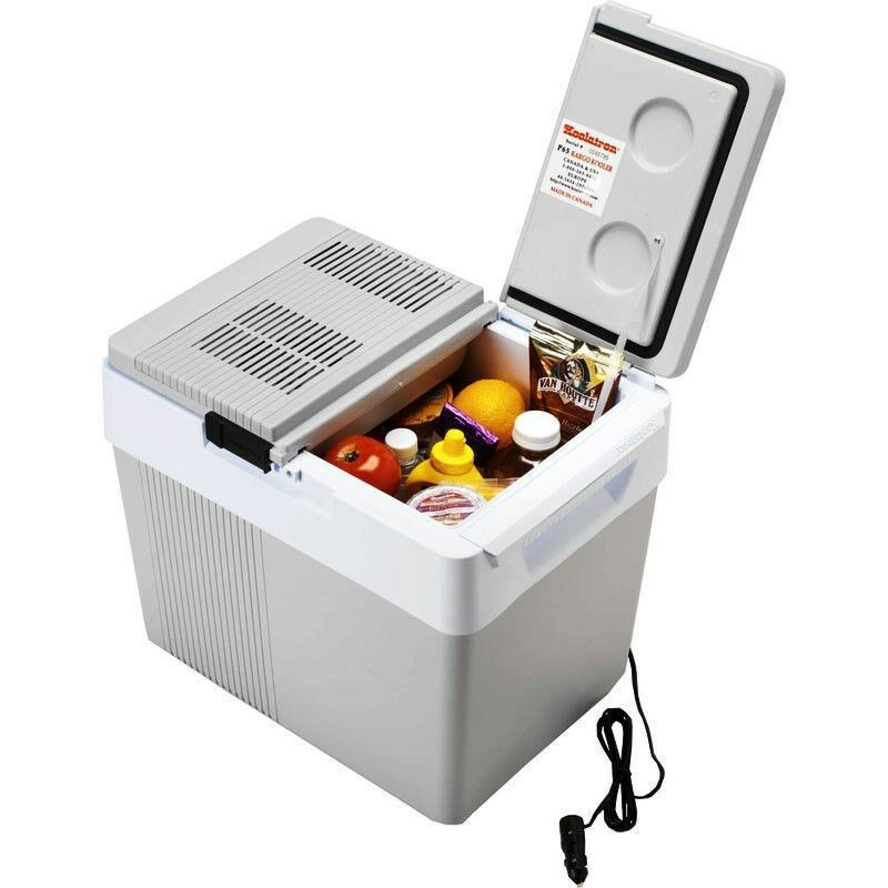 Coolers Electric Portable Heater : Qt thermoelectric car cooler heater volt electric