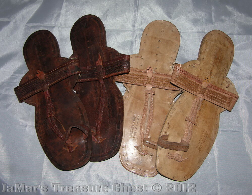 Hand Made Water Buffalo Hide Sandals Huarache New Dark