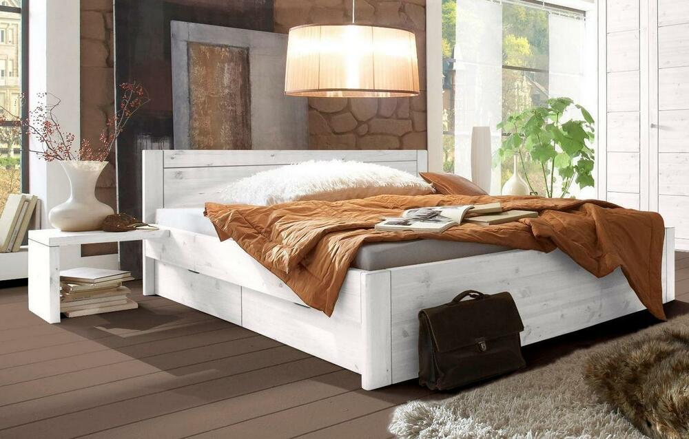 schubkastenbett wei funktionsbett schubladen bett 200x200. Black Bedroom Furniture Sets. Home Design Ideas
