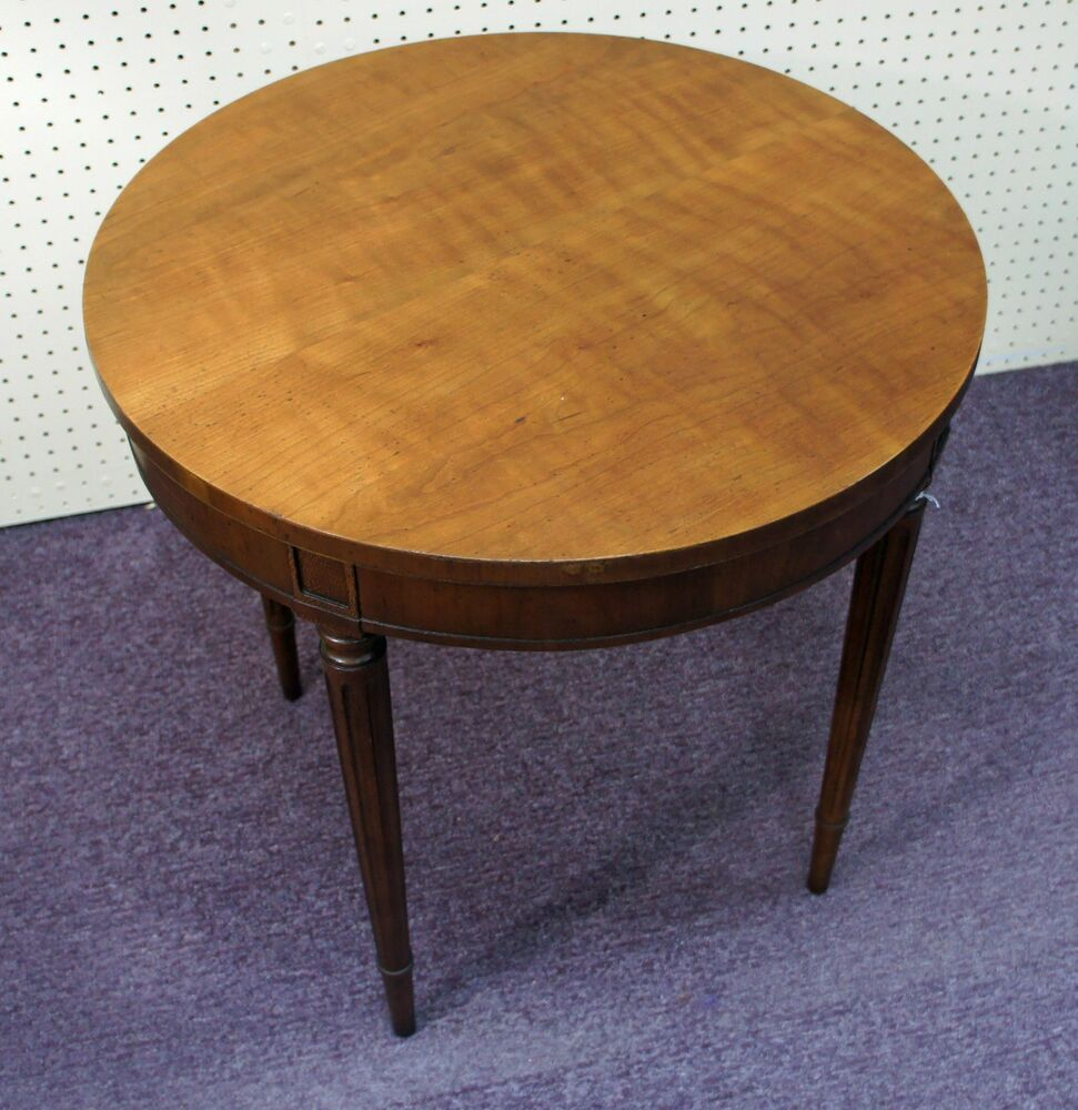 Baker furniture french louis xvi cherry round occasional for Furniture 24