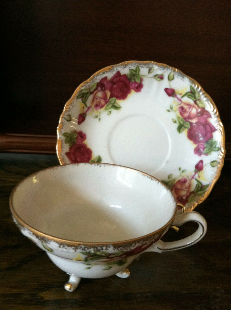 old bone china tea cup and saucer made in england ebay. Black Bedroom Furniture Sets. Home Design Ideas