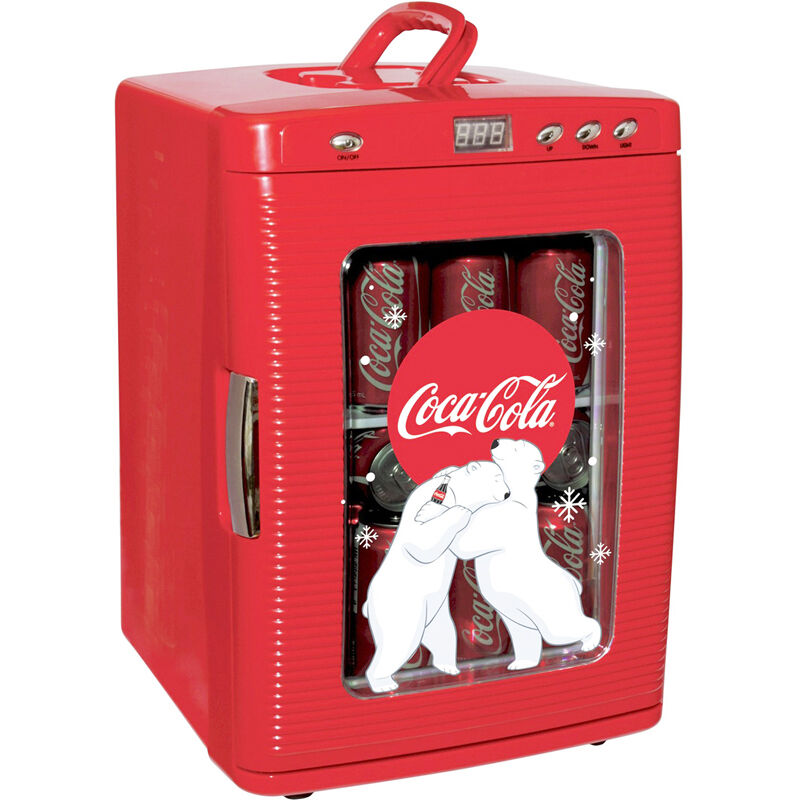 Compact Coca Cola 28 Can Mini Refrigerator Countertop