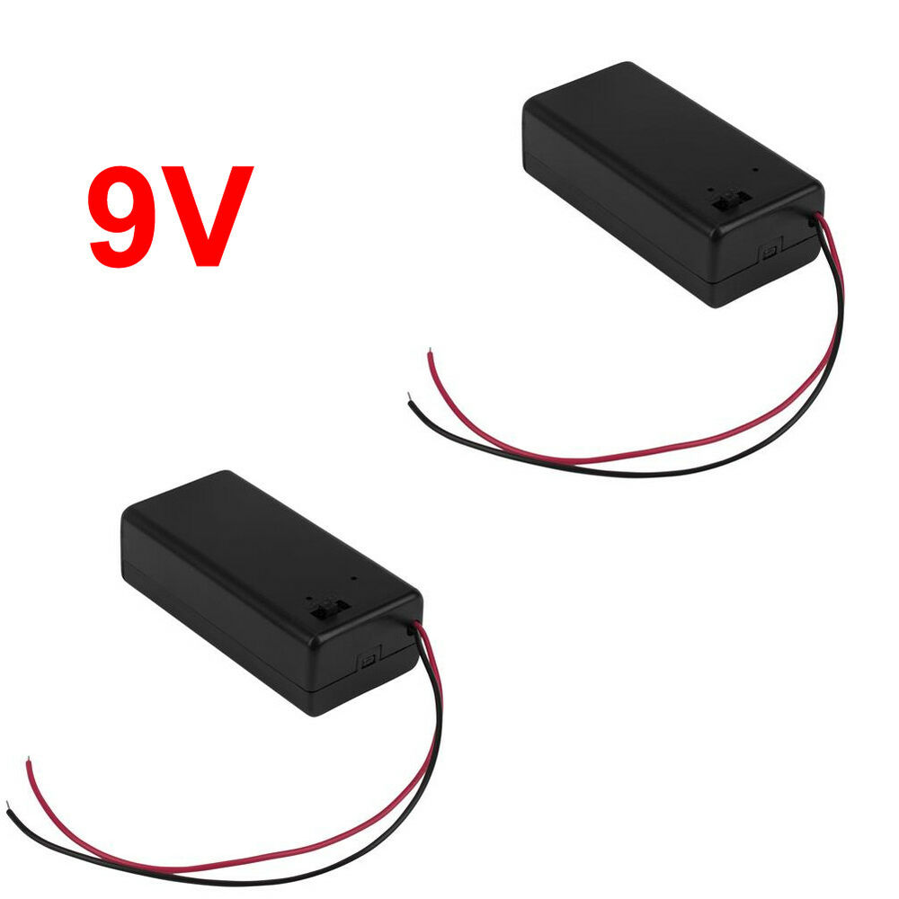 9v battery box with on off switch 9 volt battery holder with power switch usa ebay. Black Bedroom Furniture Sets. Home Design Ideas