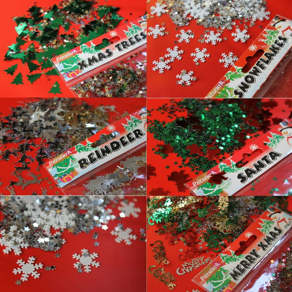 Table Scatter Confetti Christmas Sprinkle Decorations