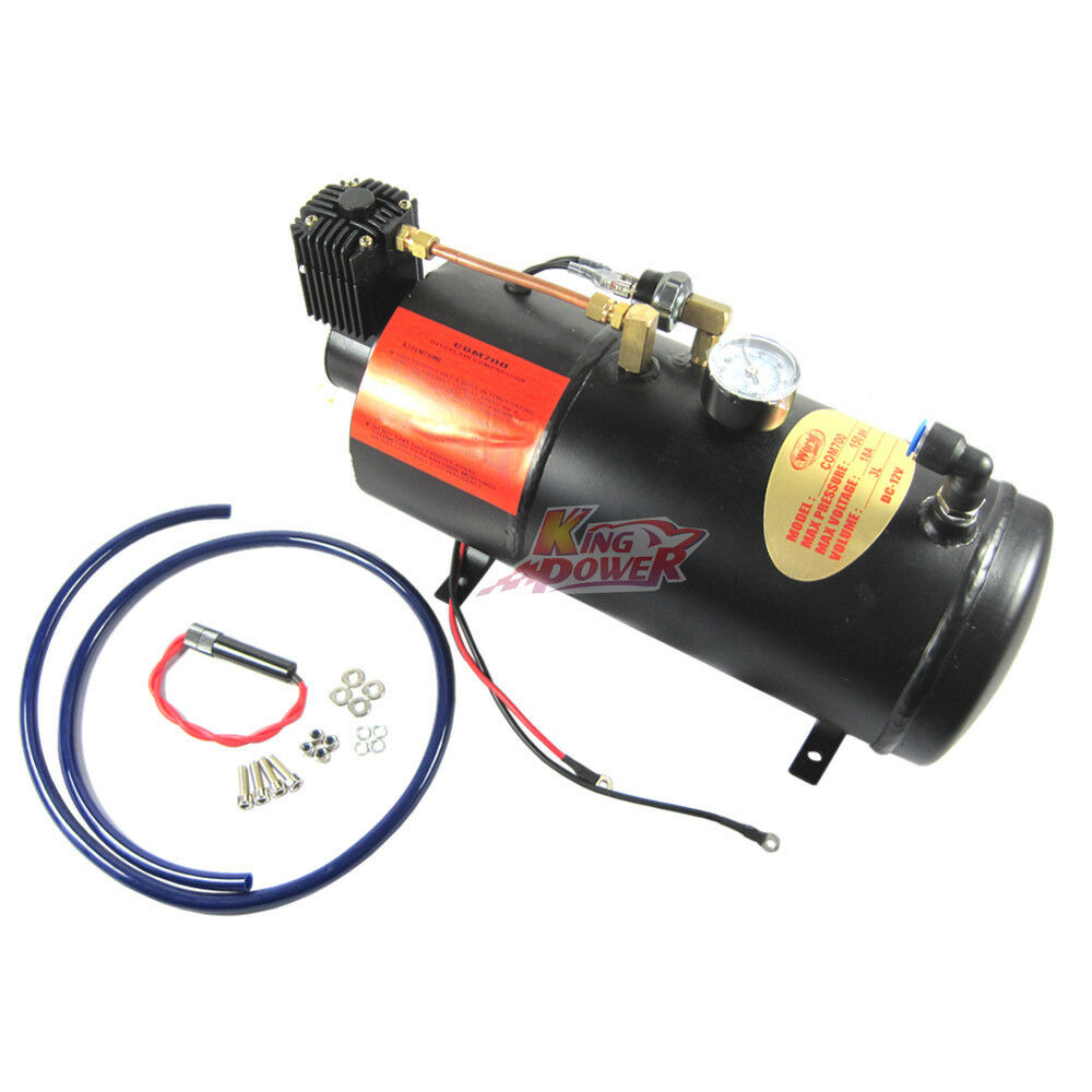 New Air Compressor With 3 Liter Tank For Air Horn Train