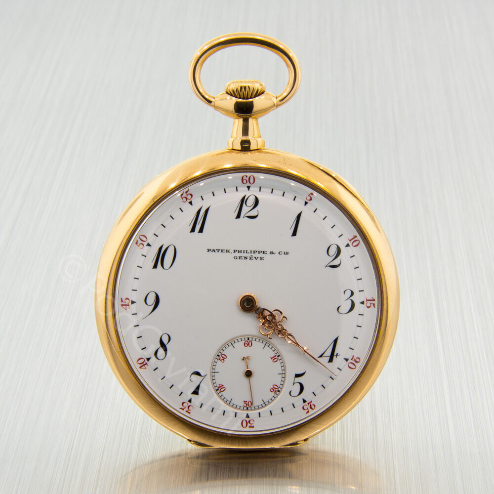 18k gold antique patek philippe open pocket ebay