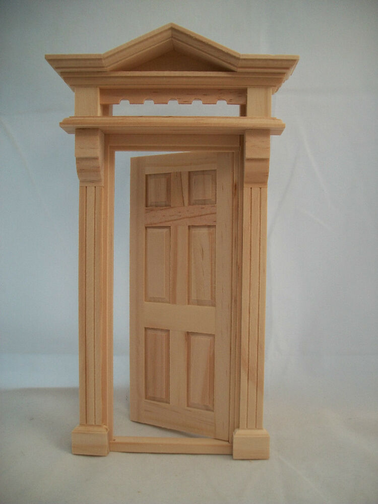 Victorian 6 panel door 6013 dollhouse fairy miniature 1pc for The works fairy door