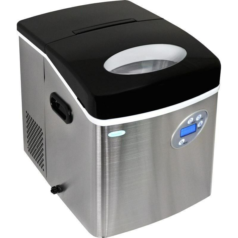 Large 50 Lb Stainless Steel Portable Ice Maker Compact