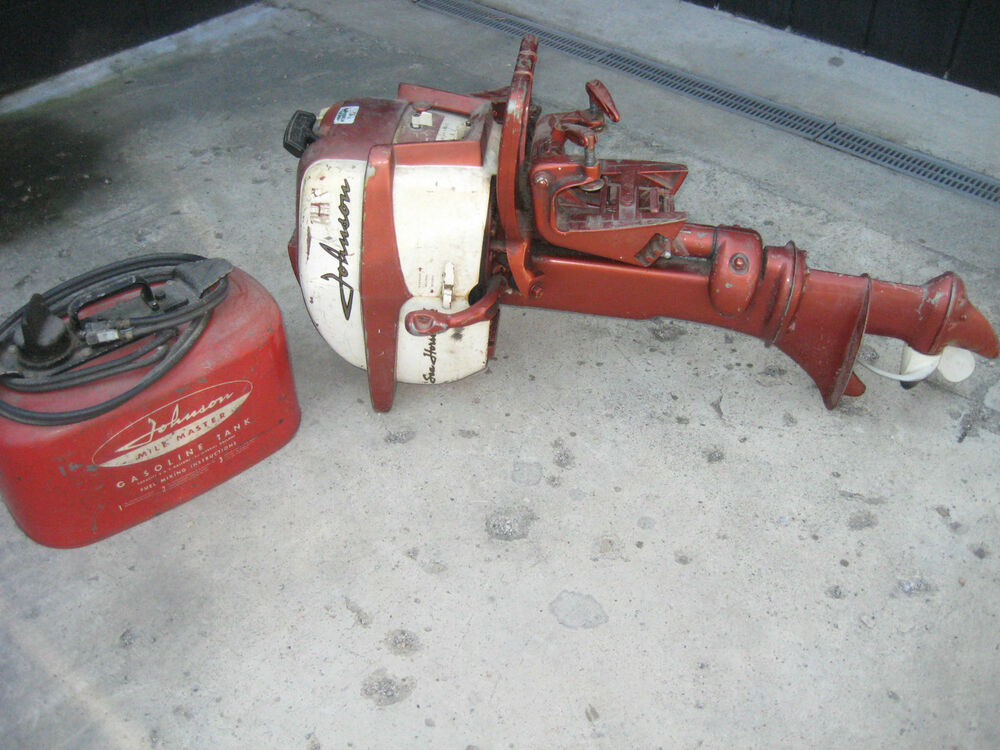 Vintage 1950s johnson seahorse 5 1 2 hp outboard motor for Gas tanks for outboard motors