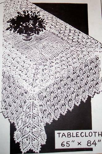 2467 Vintage Design Pineapple Tablecloth Pattern To