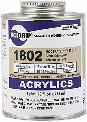 IPS Weld-On #1802 Plastic Solvent Cement for Acrylic, ABS, PVC,+ ...