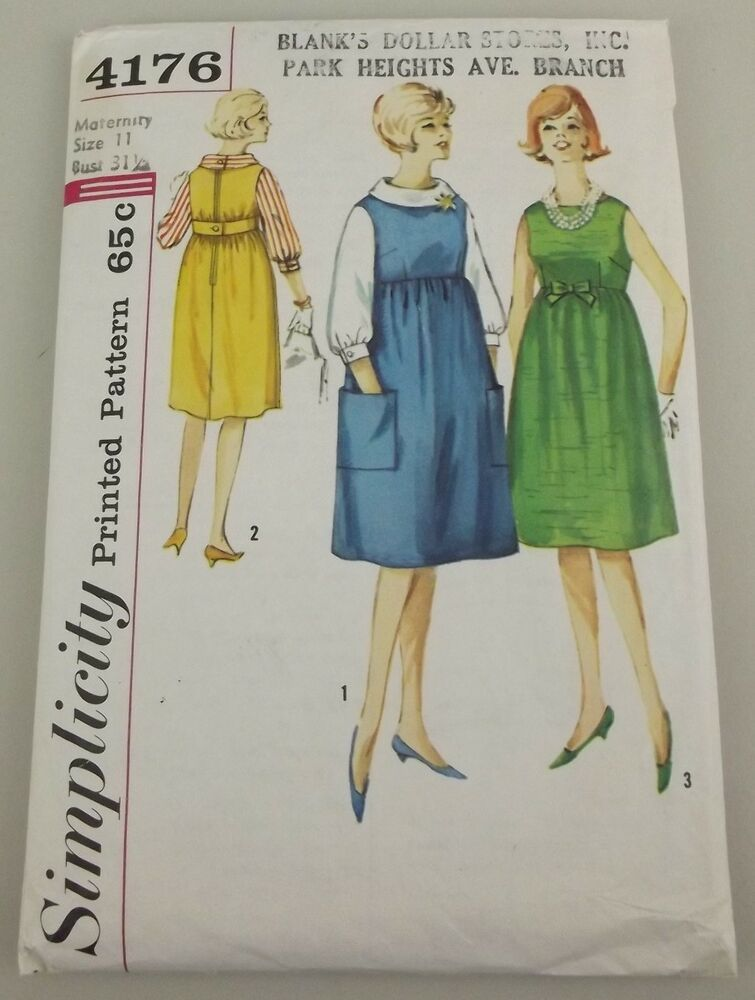 Simplicity 4176 Pattern Maternity Dress Jumper Blouse Size
