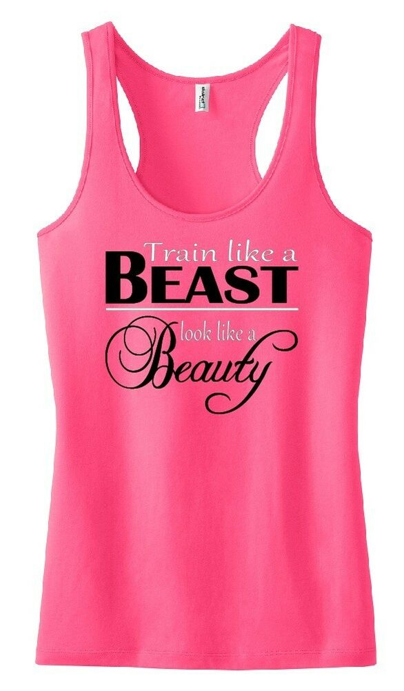 Train Like A Beast Tank Top Shirt Exercise Fitness Work