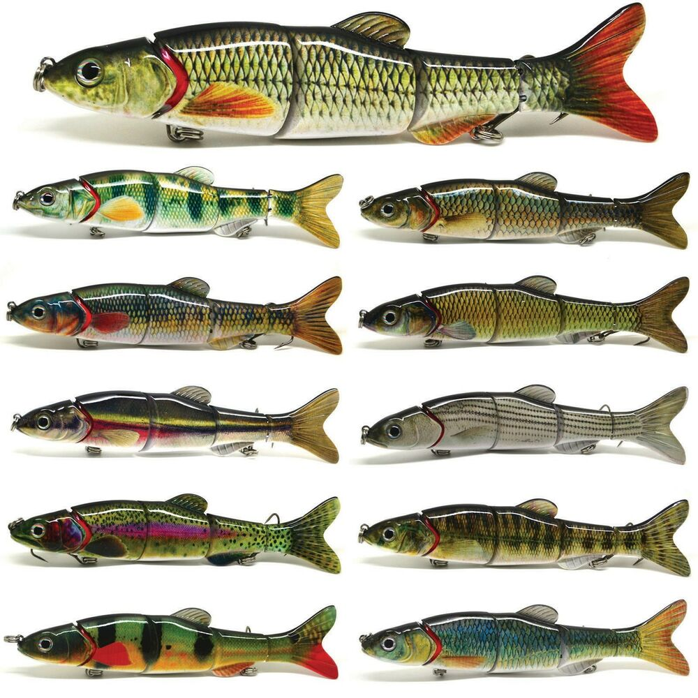 6 5 multi jointed fishing lure bait swimbait life like for Musky fishing lures
