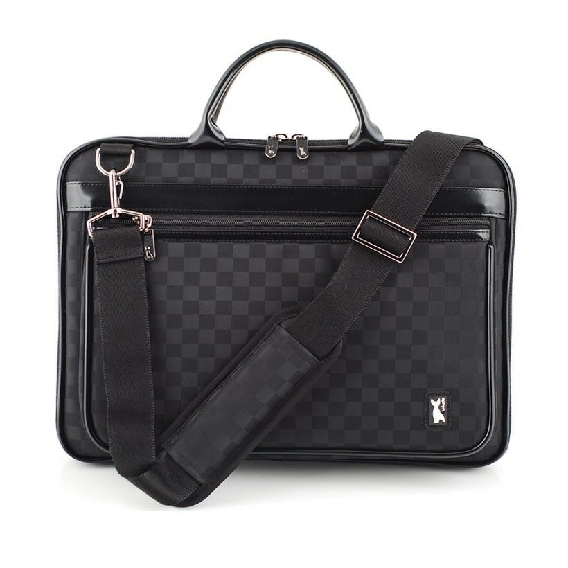 laptop pouch bag case pattern of checkered black macbook air 11 6 inch strap new ebay. Black Bedroom Furniture Sets. Home Design Ideas