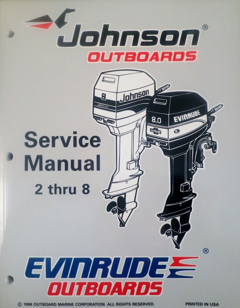 1997 johnson evinrude 2 2 3 3 3 4 5 6 8 hp outboard shop for Outboard motor repair shop