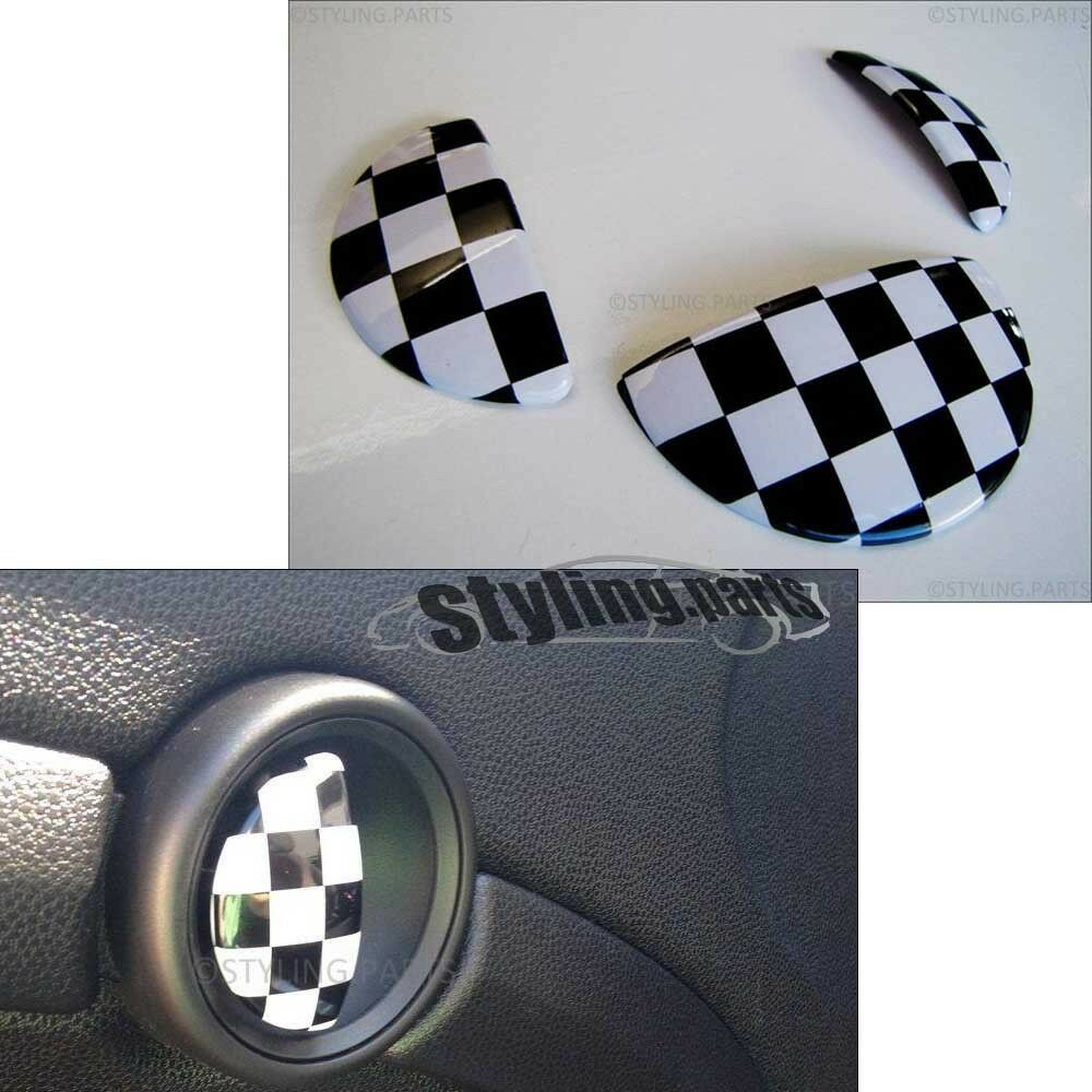 t rgriffe handschuhfach checkered flag passt f r mini one. Black Bedroom Furniture Sets. Home Design Ideas