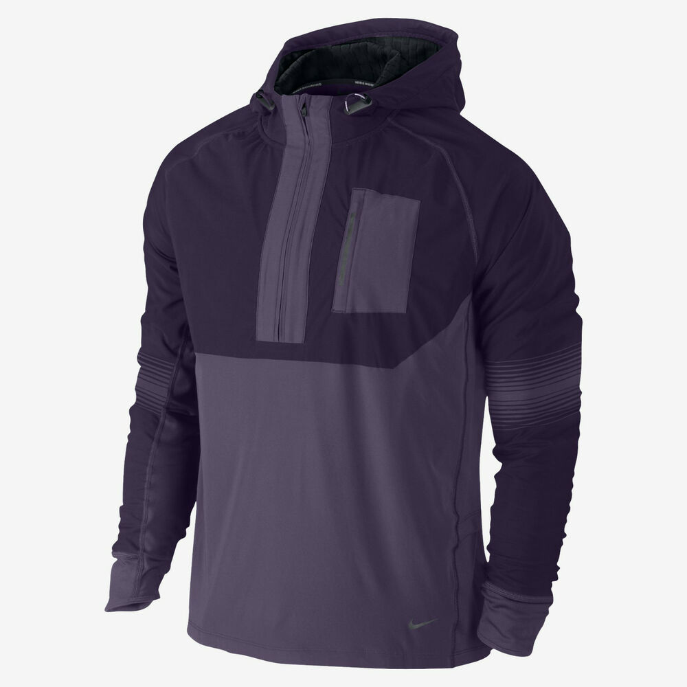 9e96cb71ff8ac2 Details about NIKE DRI FIT SPHERE RUNNING HOODIE MENS TRACK JACKET M MD  PURPLE THERMAL 519787