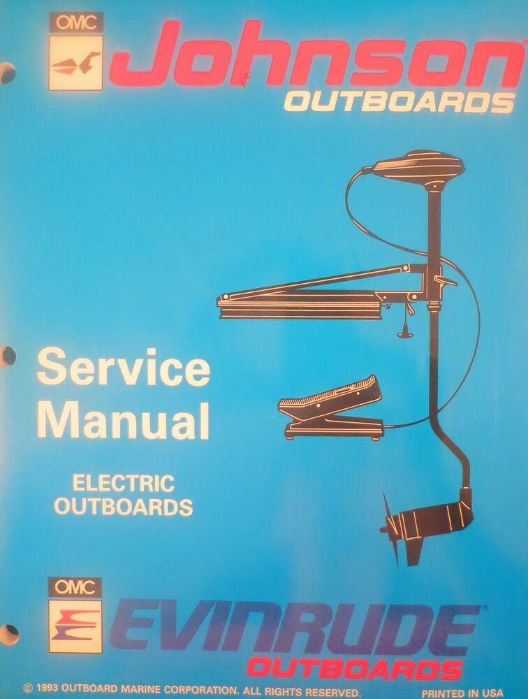1994 johnson evinrude electric outboard trolling motor for Johnson outboard motor repair