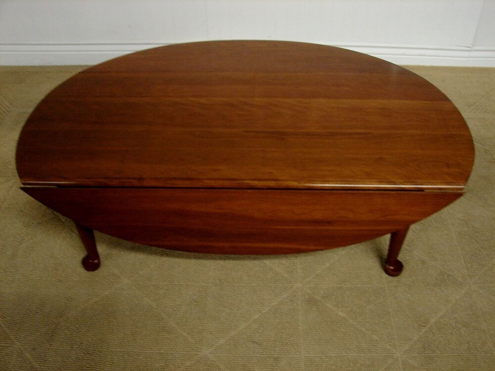 Harden Solid Cherry Drop Leaf Coffee Table Cocktail Table