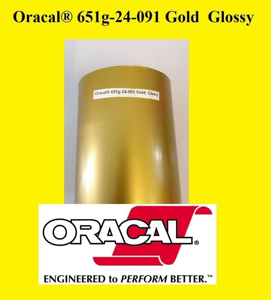 12 Quot X 10 Ft Roll Gold Glossy Oracal 651 Vinyl Adhesive