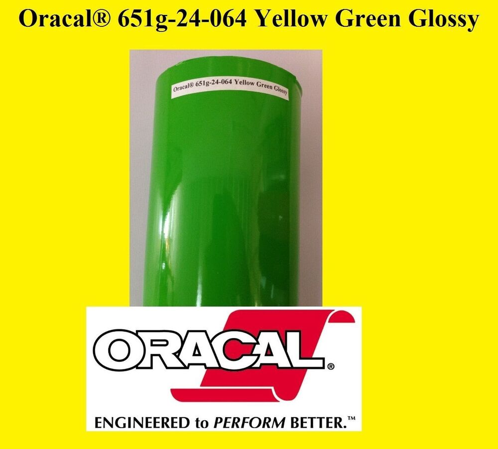12 Quot X 10 Ft Roll Yellow Green Glossy Oracal 651 Vinyl