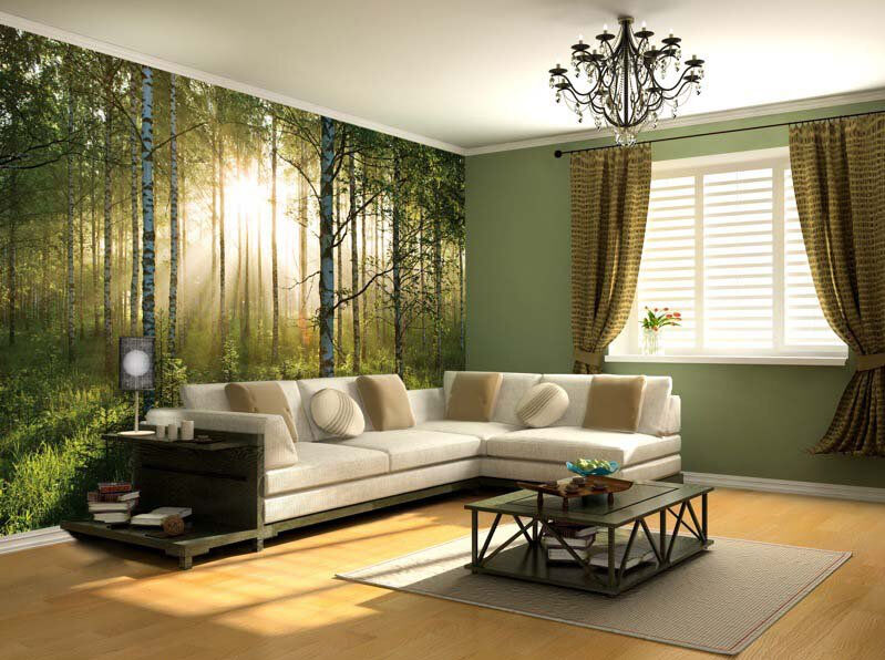 New Wallpaper Mural Forest Trees Photo Wall Paper Poster
