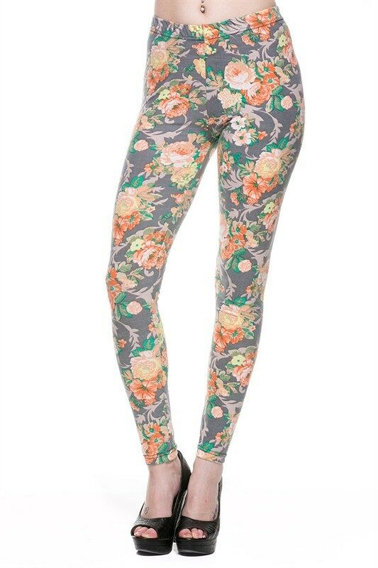 New Design Hot Fashion Floral Printed Stretch Ankle Fit Leggings Tights Pants | eBay