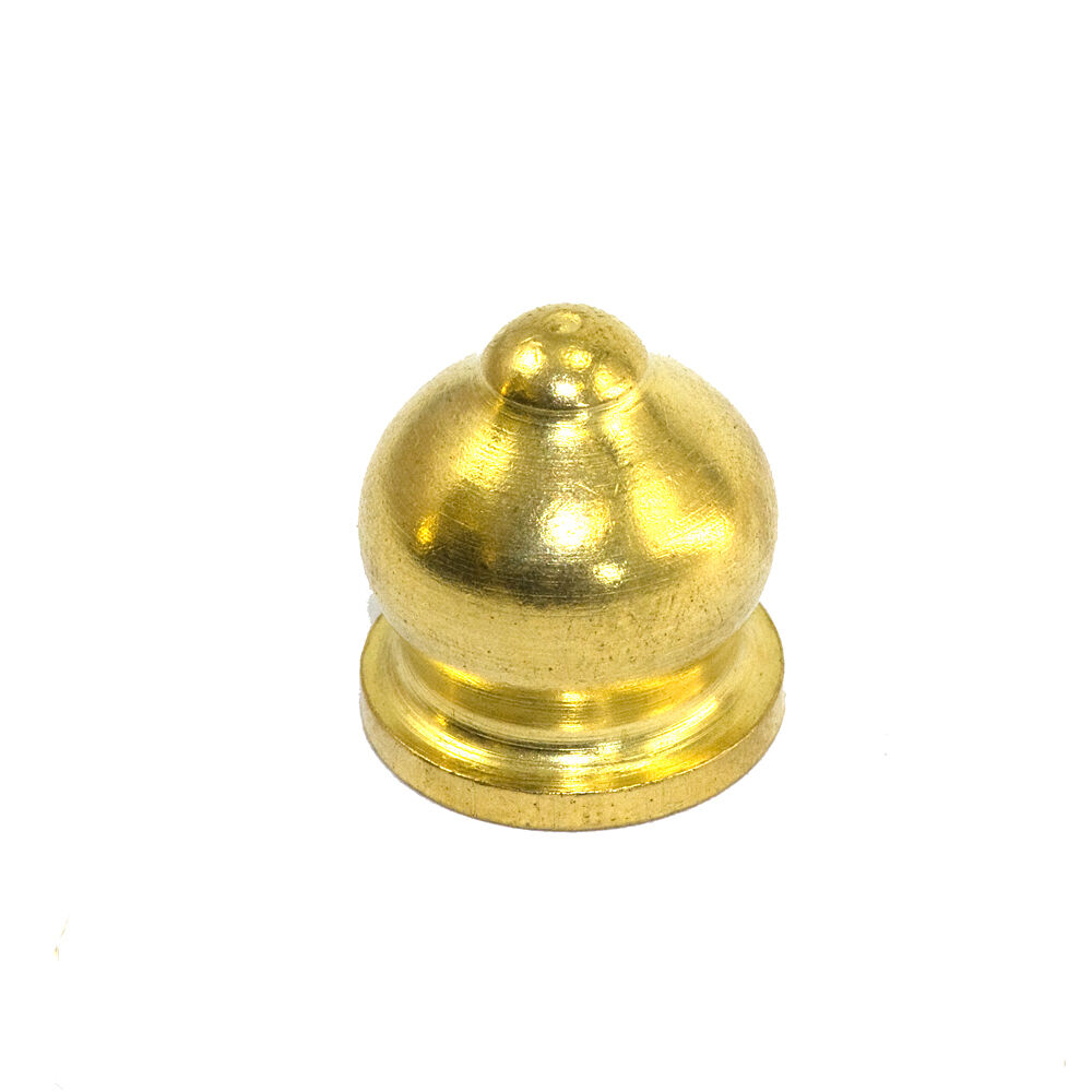 Solid brass quot tpi ornamental finial end cap nut