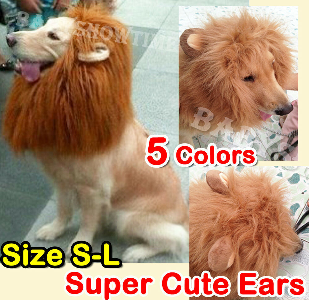 Pet Costume Lion Mane Wig Dog Cat Halloween Clothes Fancy Dress up with Ears #2 | eBay  sc 1 st  eBay & Pet Costume Lion Mane Wig Dog Cat Halloween Clothes Fancy Dress up ...