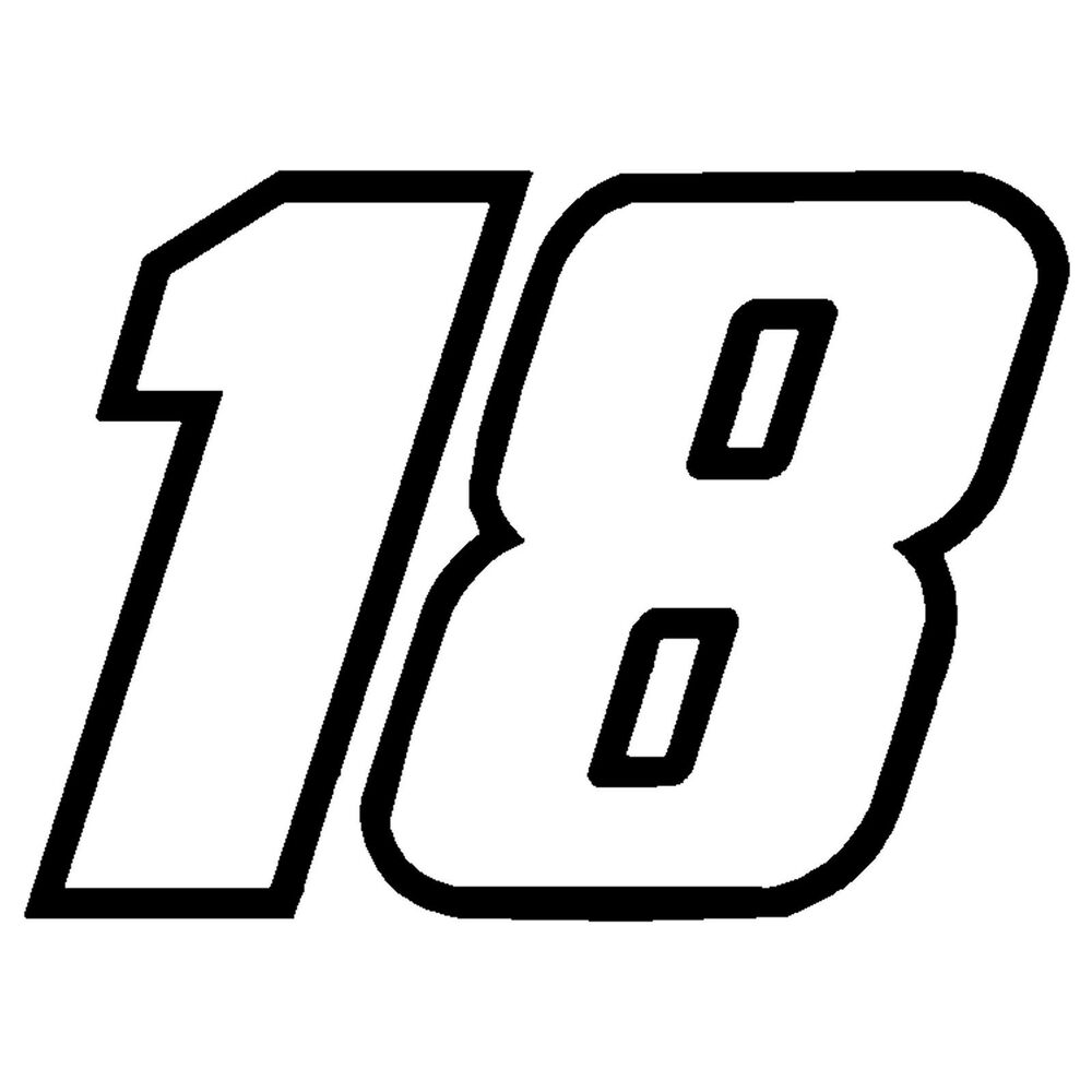 4 u0026quot  kyle busch number 18 window decals vinyl stickers 2