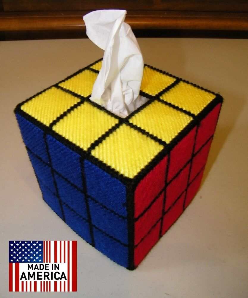 rubik 39 s rubiks rubic cube tissue box cover solved ver. Black Bedroom Furniture Sets. Home Design Ideas