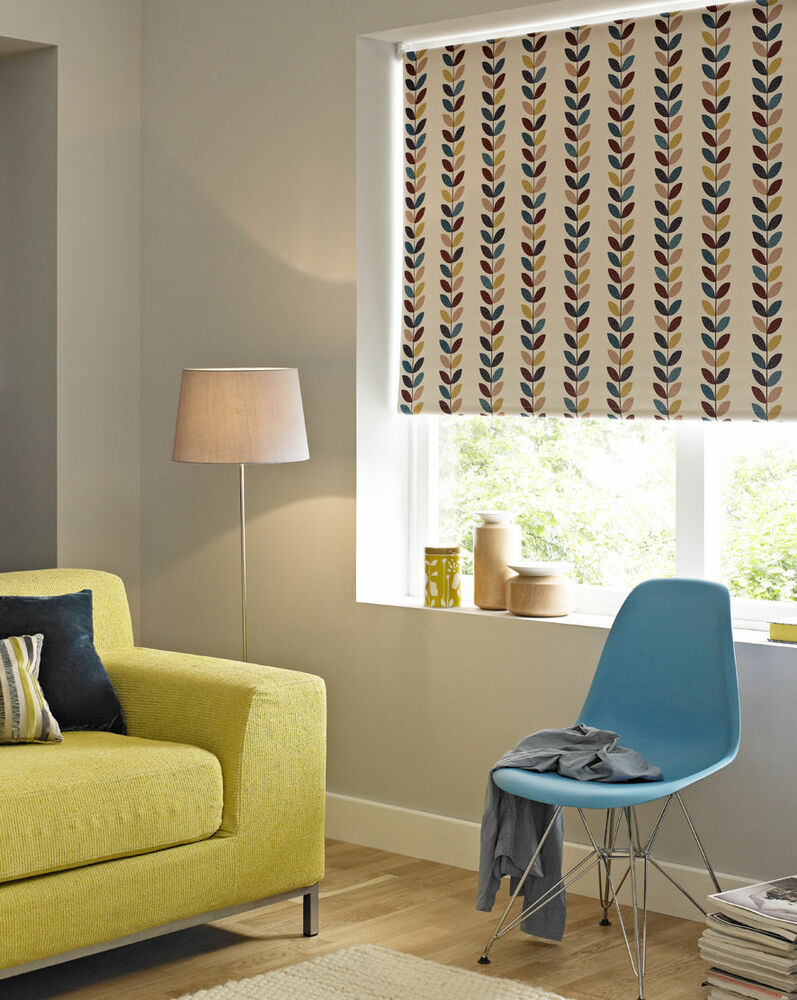 Quality Value Leaf Print Blackout Roller Blinds From Only