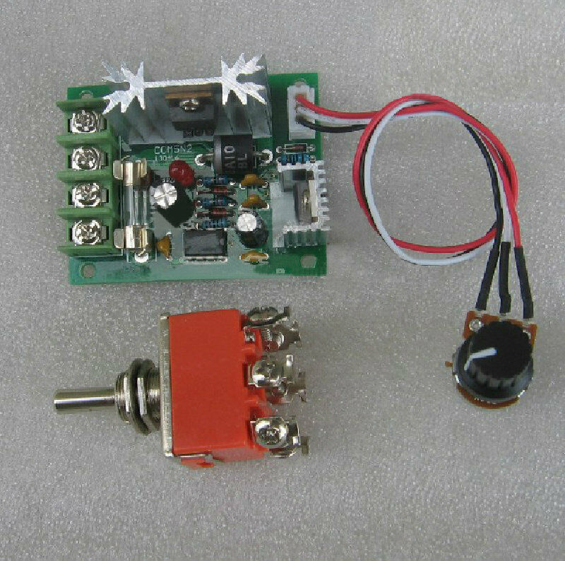 Dc12 24v Pwm Miniature Dc Motor Speed Controller With