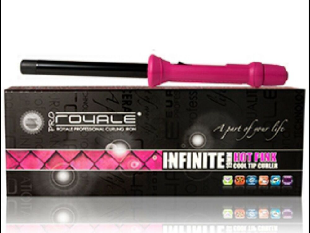 Royale Hot Pink Infinite 19mm Hair Curling Iron Curler