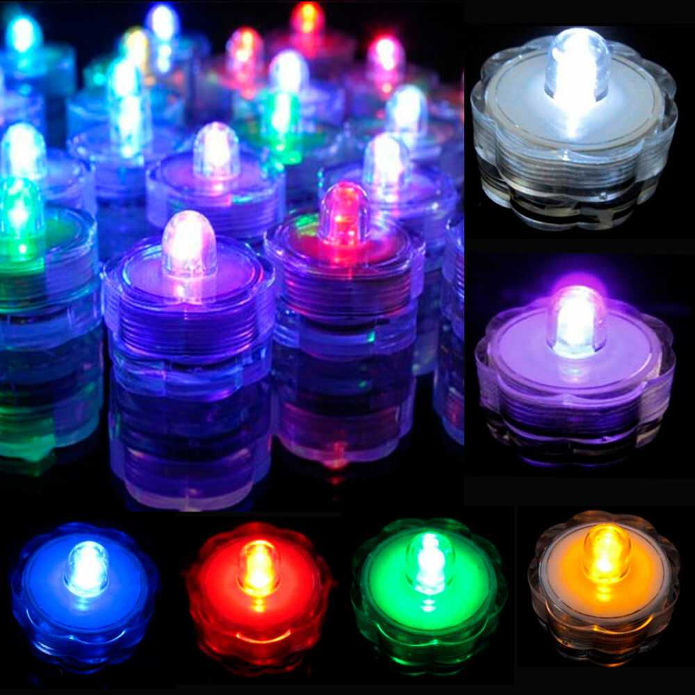 12 24pcs led submersible led tea light candle flameless for Decoration candles