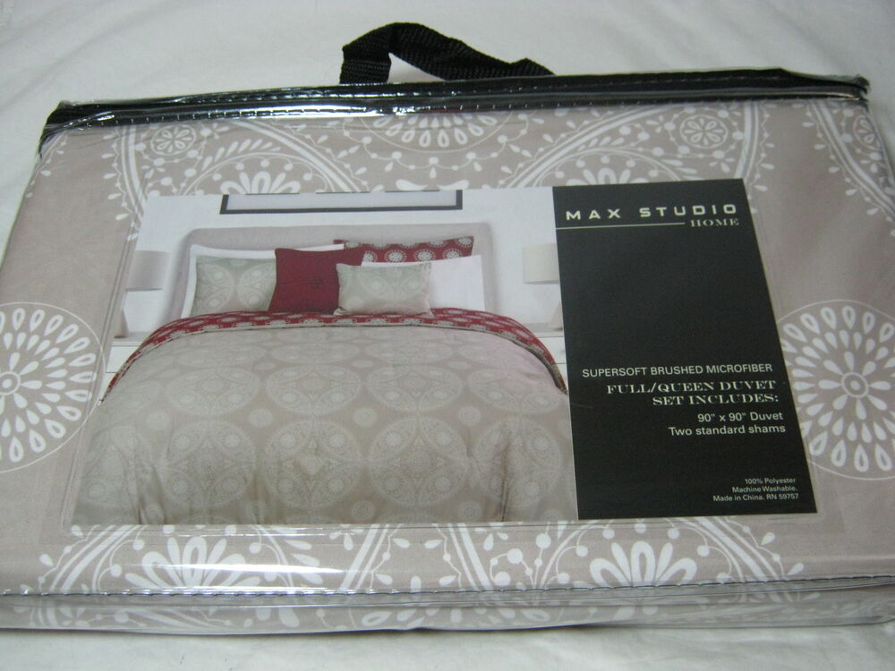 Max Studio Home Medallion Full Queen Duvet Cover Amp Shams
